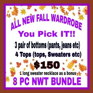 GET A BRAND NWT FALL WARDROBE FOR $150